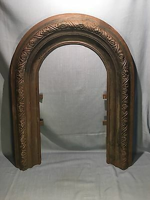 Antique Cast Iron Architectural Salvage Fireplace Mantle Arch Ornate Design