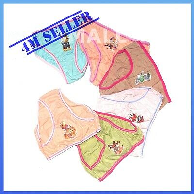 6 PCS Pairs Kids Girls Underwear Undies Panties Briefs Sz Paw Patrol Rescue Skye