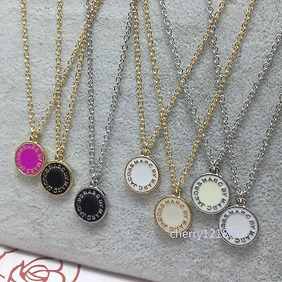 2016 Hot Sale Marc by Marc Jacobs  7colors Letters Disc Necklace