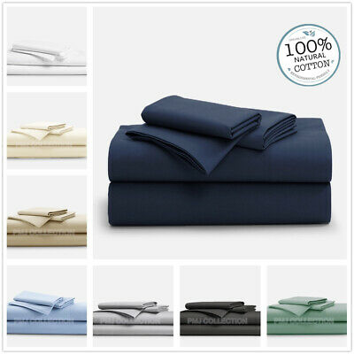 1000TC 100%Egyptian Cotton 4piece flat, fitted bed sheet set King Queen Double