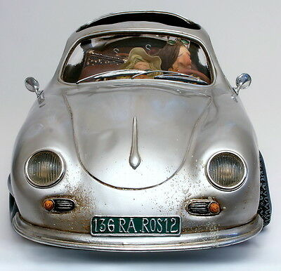 "GUILLERMO FORCHINO - Comic Art Skulptur - ""PORSCHE 356 - BUSINESS TRIP"" FO85045"