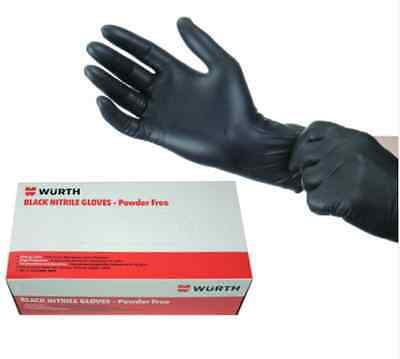 Wurth *powder Free* Mechanic Medical Tattoo Disposable Nitrile Gloves Box 100