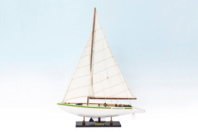 Australia Ii Wooden Model Yacht Ship Boat America's Cup Sailboat Gift 60Cm