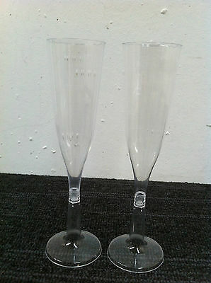 Champagne flute 144 ML Clear plastic 250 pieces / Carton ( 25 sleeves x 10 pcs )