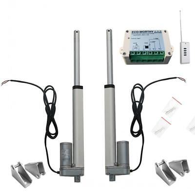 "2PCS 10"" 12V Linear Actuator & Wireless Remote Control for Optometry Table Lift"