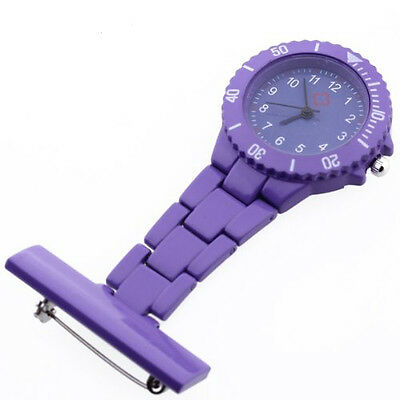 Montre Infirmiere Violet Mouvement a Quartz Alliage avec Broche Epingle WT