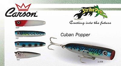 Artificiale STRIKE PRO CUBAN POPPER top water floating spinning pesca hard lure