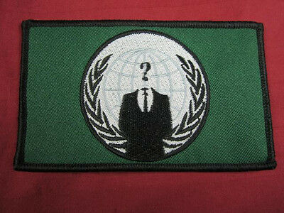Anon flag embroidered cloth patch 4chan Anonymous 4Chan legion