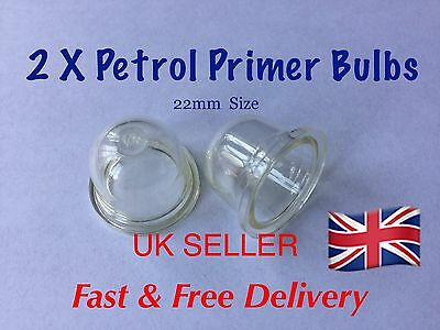 Fuel Primer Bulb X 2  , Mower, Cutter etc , Good Quality ( 22mm SIZE )