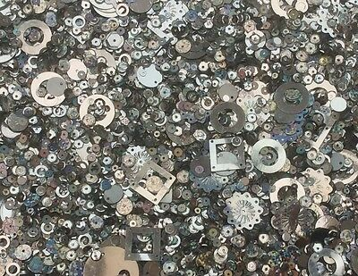 Silver Metallic Sequins Mixed Size & Shape 80G 3000+ Pack - Sewing Craft - Sc100