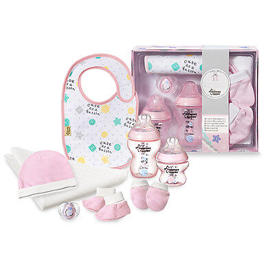 Tommee Tippee Closer To Nature Baby Gift Set Girl PInk