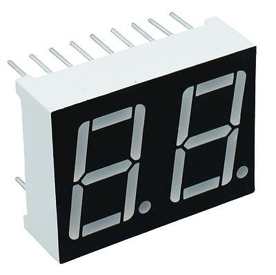"2 x Red 0.56"" 2 Digit Seven 7 Segment Display Common Cathode LED"