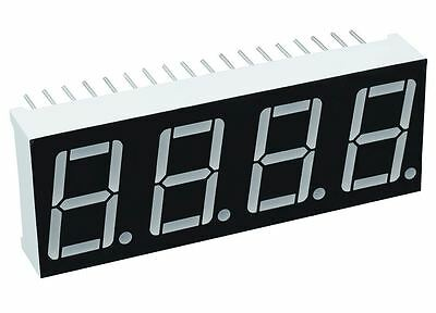 "2 x Red 0.56"" 4 Digit Seven 7 Segment Display Common Cathode LED"