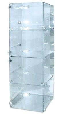 Glass Display Showcase Four Cube Design With Doors