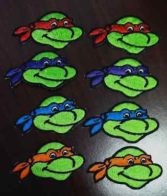 "Teenage Mutant Ninja Turtle patches iron on sew on patches  2 3/8"" size 8 pcs."