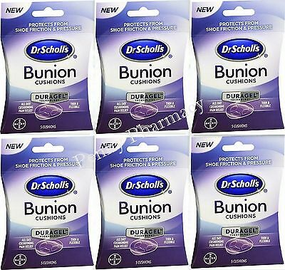 Dr Scholls BUNION Cushions Duragel 5 ct ( 6 pack ) FRESH PHARMACY STOCK!
