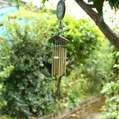 Classic Copper Tubes Wood Metal Garden Outdoor Decor Wind Chime Windbell