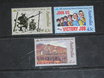 Aust 1991 Memory Of Those Who Served Set Of 3 , Very Fine M/n/h