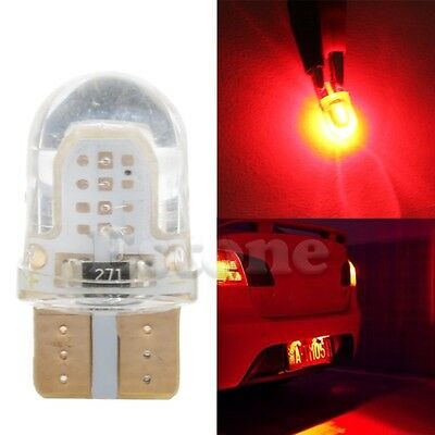 10x T10 194 168 W5W COB 8 SMD LED CANBUS Silica Red License Light Bulb