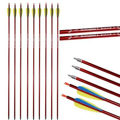 "IRQ Archery Hunting 31"" Aluminum Arrows shaft 550 Recurve Compound Bow Target"