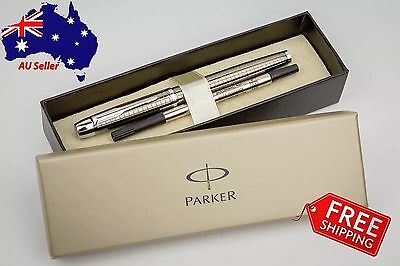 PARKER IM Premium Quality Chiselled Gunmetal Rollerball Pen - Boxed+Extra Refill
