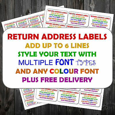 PERSONALISED STICKY SELF ADHESIVE ADDRESS LABELS PRE PRINTED 21 per sheet  ^ t