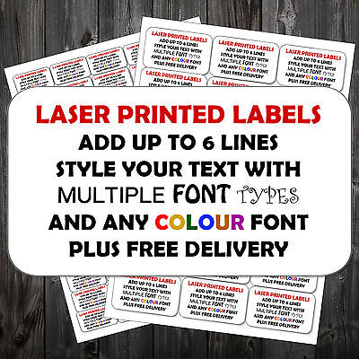 Personalised ANY COLOUR Printed Sticky Address Labels Stickers   ^ P&P!