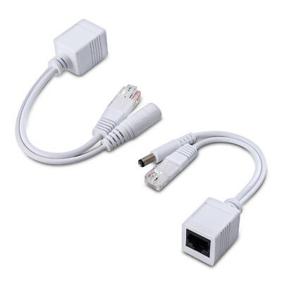 kwmobile Passive Power over Ethernet PoE adapter cable set Injector Splitter