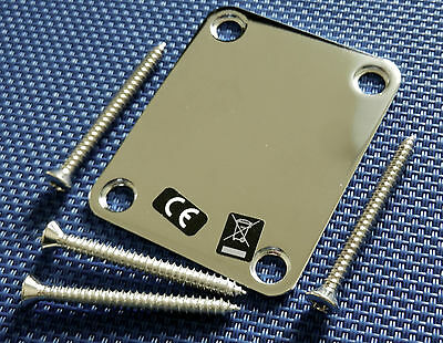 Fender Geddy Lee Jazz Bass NECK PLATE  Chrome Guitar Parts