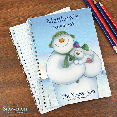 Personalised OFFICIAL The Snowman and the Snowdog Christmas A5 Notebook Gift