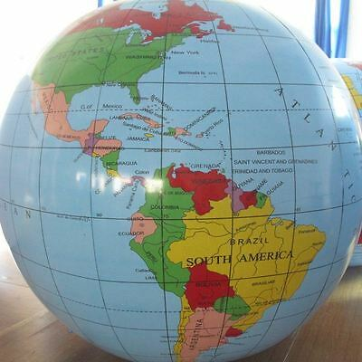 Inflatable World Globe 30 cm Learning Educational Toys