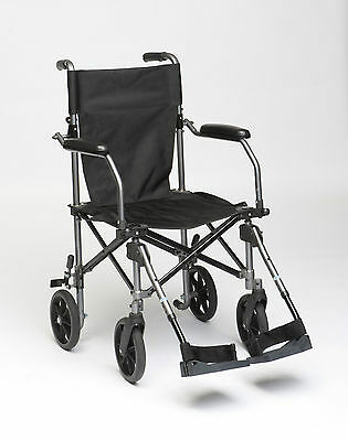 TraveLite Aluminium Transport Wheelchair -Folds To Approx 1/3 To Size Of Others