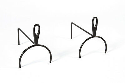Black Simple Fire Dog / Firedogs / Andirons / Log Support - Pair