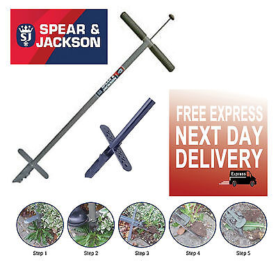 Spear & Jackson Never Bend Screw Weeder Lawn Weed Remover Killer Easy Weed
