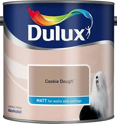 Dulux Matt Emulsion Paint For Walls & Ceilings 2.5L Cookie Dough