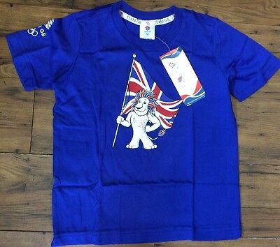 Adidas Official Team GB T-Shirts Kids Blue Top 5 - 6 years   (20)