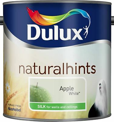 Dulux Silk Emulsion Paint For Walls & Ceilings 2.5L Apple White