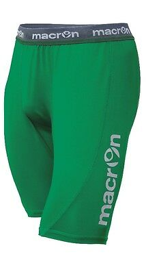 MACRON QUINCE GREEN BASELAYER SHORTS - Various Sizes Available