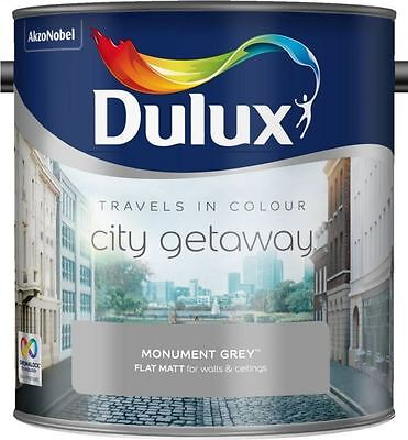 Dulux Travels in Colour Flat Matt Wall Paint 2.5L Monument Grey