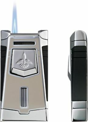 Colibri T-Series Empire Thunder Lacquer / Satin Chrome Lighter - CB-QTR641002