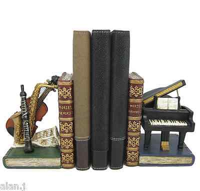 Shelf Bookends  Musical Instruments Shelf Tidy New
