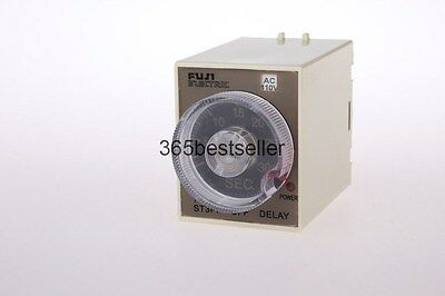 220V AC Power Off Delay Timer Time Relay 0-30 Second 30S ST3PF & Base