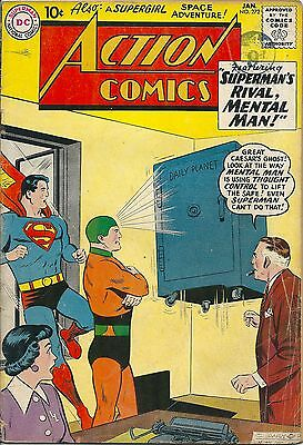 ACTION COMICS 272 DC Silver Age 1961 Supermans Rival Mental Man
