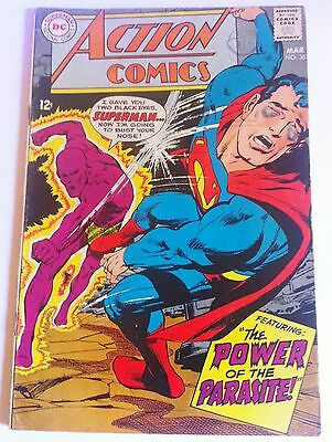 ACTION COMICS 361 DC Silver Age 1968 2nd app of Parasite Neal Adams Cover FN