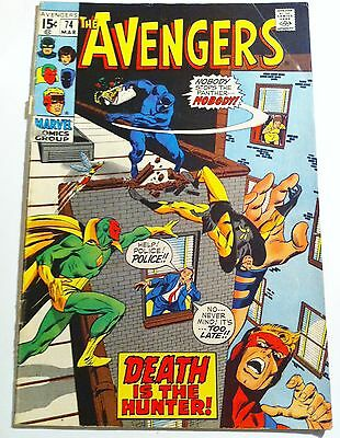 AVENGERS 74 Marvel 1970 Death is the Hunter