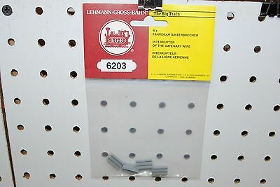 LGB 6203 (56203) 4 x Insulating Catenary Wire Connectors *G-Scale* NEW