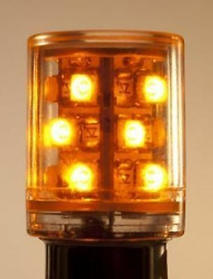 Bulb Ba15D 10 Led T5-1/2 Amber Yellow Tower Light 24V