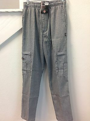 Dc202 Dickies Chef Pants Double Zipper Cargo Hdth Houndstooth