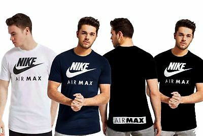 New Mens Nike Crew Neck Airmax -Casual Gym Sports Branded Cotton T-shirts Top