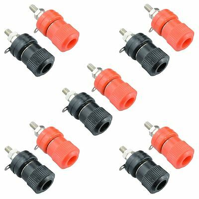 5 x Pairs Red and Black 4mm Binding Post Socket Connector